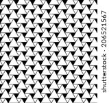 black and white geometric... | Shutterstock .eps vector #206521567