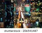 city at night   blur photo... | Shutterstock . vector #206541487