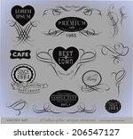 calligraphic design elements... | Shutterstock . vector #206547127