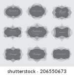 elegant transparent invitation... | Shutterstock . vector #206550673