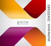 moebius origami colorful paper...   Shutterstock .eps vector #206552683