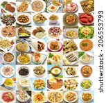 collage of cooked | Shutterstock . vector #206553793