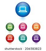 vector   set of laptop sign... | Shutterstock .eps vector #206583823