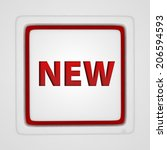 new square icon on white... | Shutterstock . vector #206594593