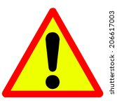 warning attention sign  | Shutterstock .eps vector #206617003