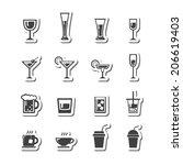vector.drink icon set | Shutterstock .eps vector #206619403