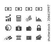 finance icons set | Shutterstock .eps vector #206619997