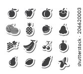 fruits icon | Shutterstock .eps vector #206620003