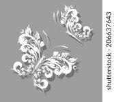 butterflies design | Shutterstock .eps vector #206637643
