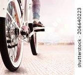 ride on the bike  | Shutterstock . vector #206640223