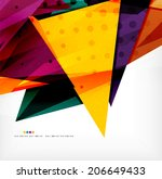 modern 3d glossy overlapping...   Shutterstock . vector #206649433