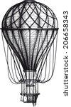 Vintage Air Balloon Drawn As...