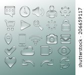 transparent icon set | Shutterstock .eps vector #206659117