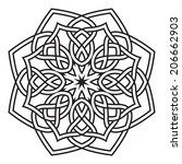 contemporary celtic knot doily...   Shutterstock .eps vector #206662903
