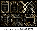 vector retro pattern for vintage party Gatsby style  - stock vector