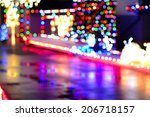 christmas lights.  out of focus ... | Shutterstock . vector #206718157