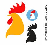 Chicken. Icon Set. Isolated...