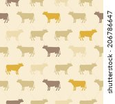 seamless  pattern of beige... | Shutterstock .eps vector #206786647
