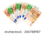 banknotes 50 and 100 euro... | Shutterstock . vector #206788987