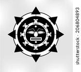 tribal tattoo style vector... | Shutterstock .eps vector #206804893
