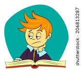 children in school   vector... | Shutterstock .eps vector #206813287