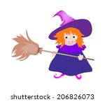 cute witch icon | Shutterstock .eps vector #206826073