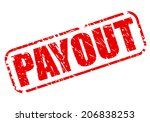 payout red stamp text on white | Shutterstock .eps vector #206838253
