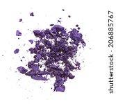 crushed purple eye shadow... | Shutterstock . vector #206885767