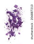 purple eye shadow isolated on... | Shutterstock . vector #206887213