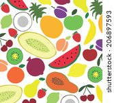 vector collection of various... | Shutterstock .eps vector #206897593