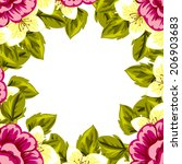 abstract flower background with ... | Shutterstock . vector #206903683