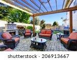 backyard cozy patio area with... | Shutterstock . vector #206913667