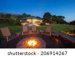 Luxury Backyard Fire Pit At...