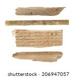 collection old pieces of broken ... | Shutterstock . vector #206947057