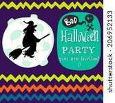 halloween invitation or... | Shutterstock .eps vector #206952133