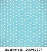 polka dot template vector design | Shutterstock .eps vector #206963827
