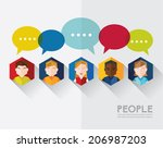 social networking people... | Shutterstock .eps vector #206987203