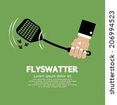 Flyswatter In Hand Vector...