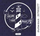 lighthouse. nautical vector... | Shutterstock .eps vector #207003277