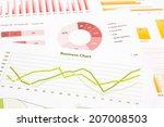 business charts  data analysis  ... | Shutterstock . vector #207008503