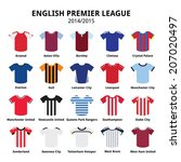 english premier league 2014  ... | Shutterstock .eps vector #207020497