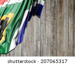 south african with vertical wood | Shutterstock . vector #207065317