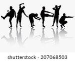 men silhouettes   Shutterstock .eps vector #207068503