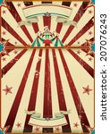 dirty circus poster. a grunge... | Shutterstock .eps vector #207076243