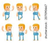 set of mechanic character in... | Shutterstock .eps vector #207090667