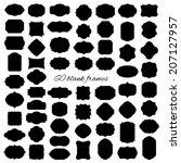 mega set of blank frame and... | Shutterstock .eps vector #207127957