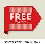 label design over beige...   Shutterstock .eps vector #207134677