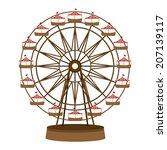 theme park design over white... | Shutterstock .eps vector #207139117