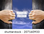 """financial freedom"" text in the ... 