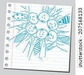 businessmen teamwork | Shutterstock .eps vector #207168133